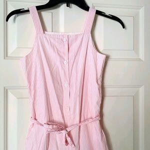 Gymboree girls sz 10 pink pinstripe jumper